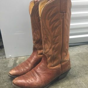Nocona Brown Western Cowboy Boots